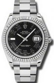 Rolex Datejust 116334 bkrio Steel and White Gold