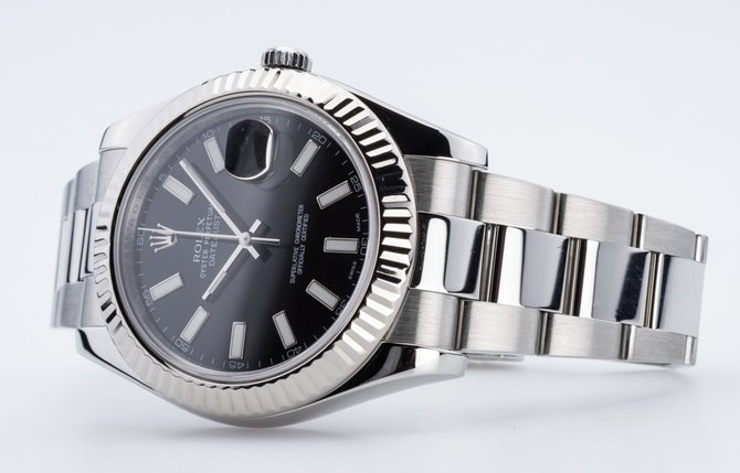 Rolex 116334 black Datejust Steel and White Gold - фото 4