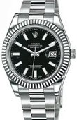 Rolex Datejust 116334 black Steel and White Gold
