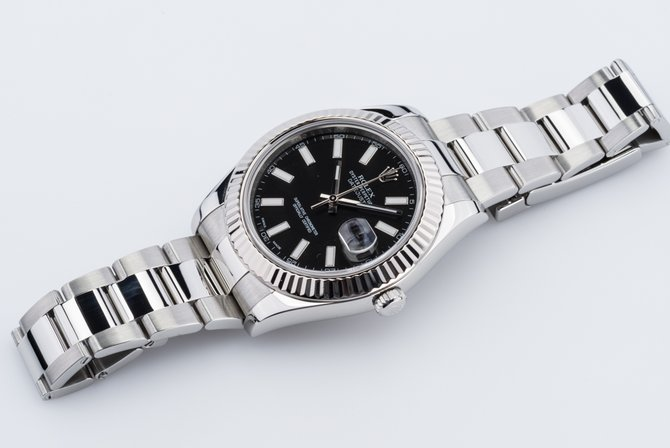 Rolex 116334 black Datejust Steel and White Gold - фото 6