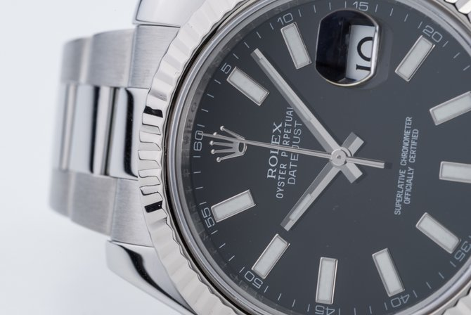 Rolex 116334 black Datejust Steel and White Gold - фото 7