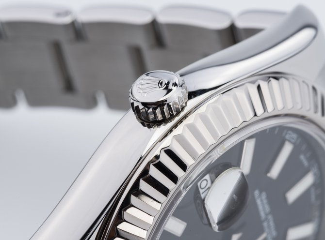 Rolex 116334 black Datejust Steel and White Gold - фото 9