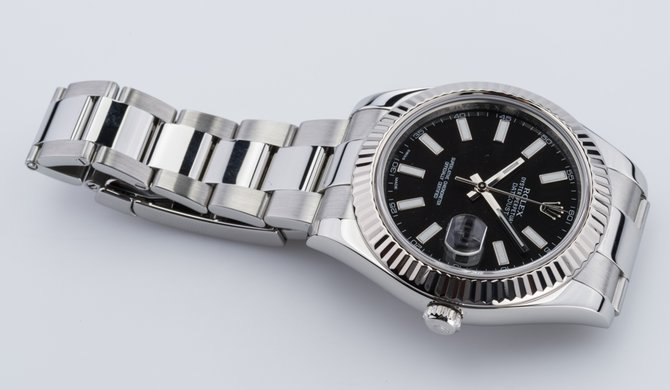 Rolex 116334 black Datejust Steel and White Gold - фото 10