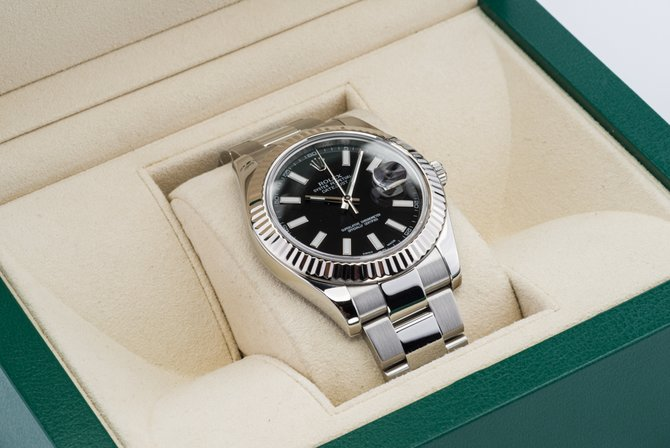 Rolex 116334 black Datejust Steel and White Gold - фото 11