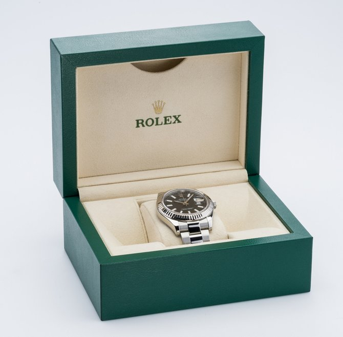 Rolex 116334 black Datejust Steel and White Gold - фото 15