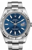 Rolex Datejust 116334 blio Steel and White Gold