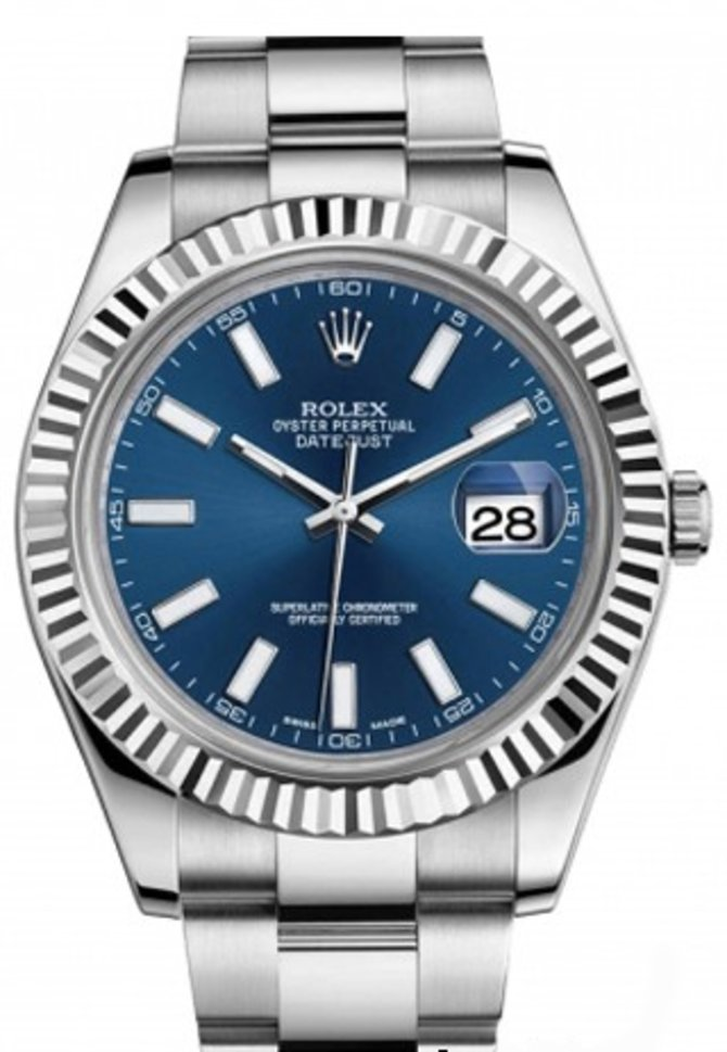 116334 blio Rolex Steel and White Gold Datejust