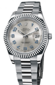 Rolex Datejust 116334 silver Steel and White Gold