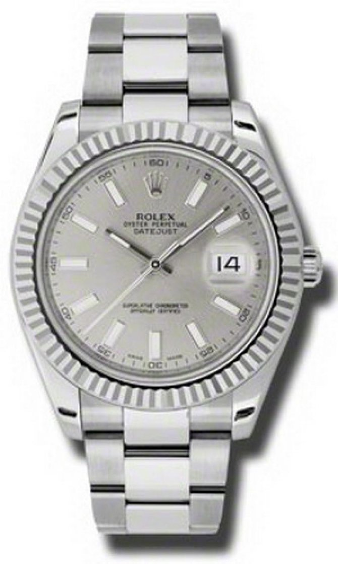 Rolex 116334 sio Datejust Steel and White Gold - фото 1