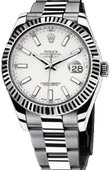 Rolex Datejust 116334 white Steel and White Gold