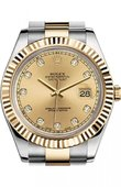 Rolex Datejust 116333 chdo Steel and Yellow Gold