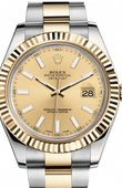 Rolex Datejust 116333 chio Steel and Yellow Gold