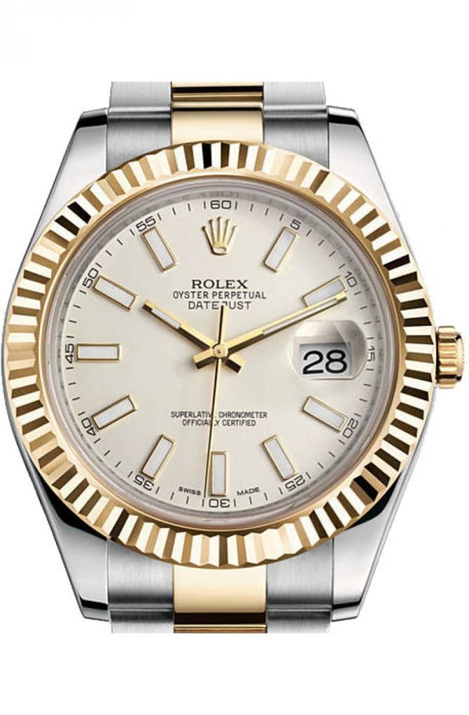 Rolex 116333 ivory Datejust Steel and Yellow Gold - фото 1