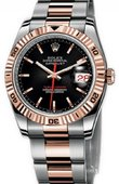 Rolex Datejust 116261 black Turn-O-Graph Steel and Everose Gold