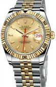 Rolex Datejust 116263 champagne Turn-O-Graph Steel and Everose Gold