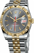 Rolex Datejust 116263 slate Turn-O-Graph Steel and Yellow Gold