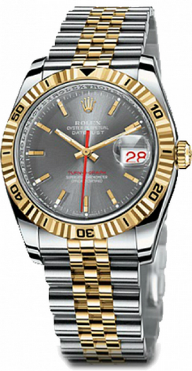 Rolex 116263 slate Datejust Turn-O-Graph Steel and Yellow Gold - фото 1