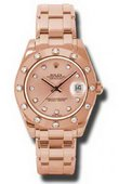 Rolex Datejust Ladies 81315 pchd Special Edition Everose Gold