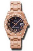 Rolex Datejust Ladies 81315 pdr Special Edition Everose Gold