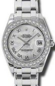 Rolex Datejust Ladies 81299 mr Special Edition White Gold