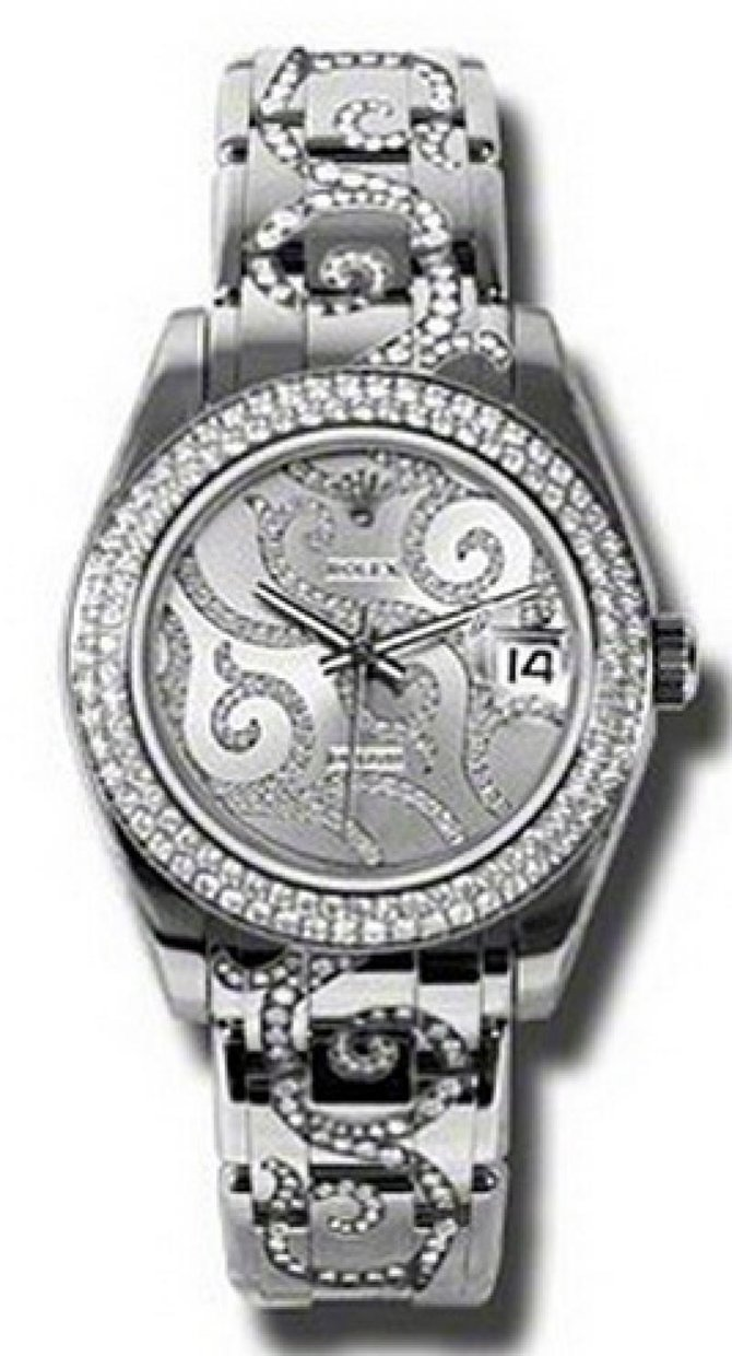 Rolex 81339 arabesque Datejust Ladies Special Edition White Gold - фото 1
