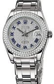 Rolex Datejust Ladies 81339 diamond-paved Special Edition White Gold