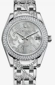 Rolex Datejust Ladies 81339 flamme Special Edition White Gold