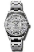 Rolex Datejust Ladies 81339 md Special Edition White Gold