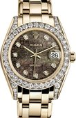 Rolex Datejust Ladies 81158 black mop jubilee d Yellow Gold 34mm