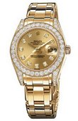 Rolex Datejust Ladies 81298 champagne diamonds Special Edition Yellow Gold