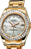 Rolex Datejust Ladies 81308 bril white mop d Special Edition Yellow Gold