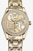 Rolex Datejust Ladies 81338 champagne arabesque Special Edition Yellow Gold