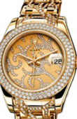 Rolex Datejust Ladies 81338 champagne flamme Special Edition Yellow Gold