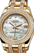 Rolex Datejust Ladies 81338 white mop d Special Edition Yellow Gold