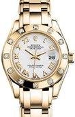 Rolex Datejust Ladies M80318-0054 Pearlmaster  Yellow Gold