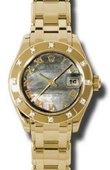 Rolex Datejust Ladies 80318 dkmr Pearlmaster  Yellow Gold