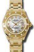 Rolex Datejust Ladies 80318 mr Pearlmaster  Yellow Gold