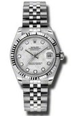 Rolex Datejust Ladies 178274 mtdj Steel and White Gold