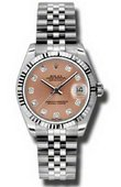 Rolex Datejust Ladies 178274 pdj Steel and White Gold