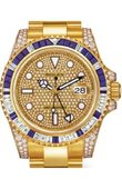 Rolex Часы Rolex GMT-Master II 116758SA pave 40mm Yellow Gold