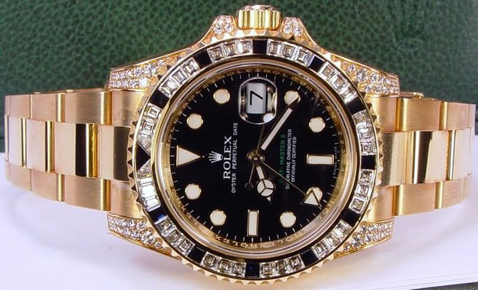 Rolex 116758SANR GMT-Master II 40mm Yellow Gold - фото 2