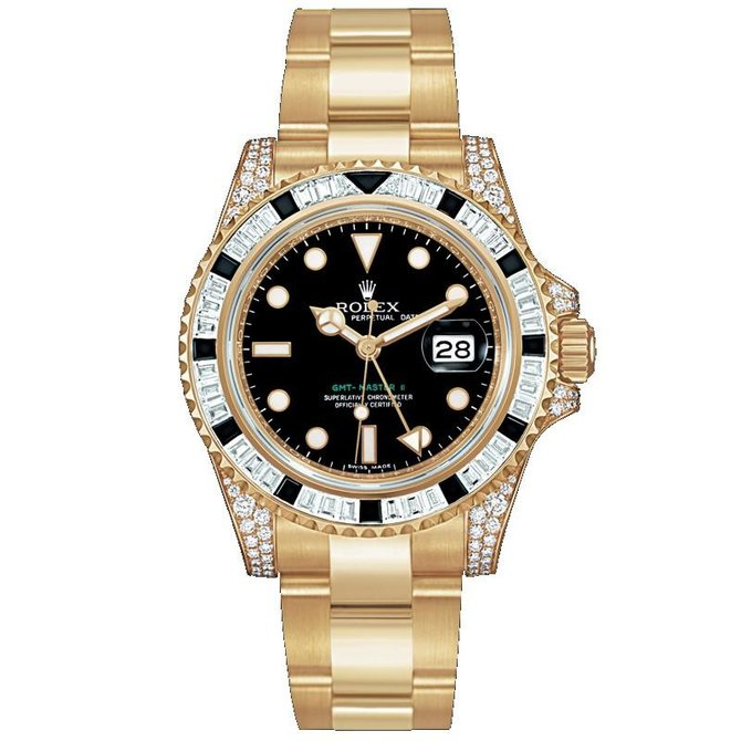 Rolex 116758SANR GMT-Master II 40mm Yellow Gold - фото 1