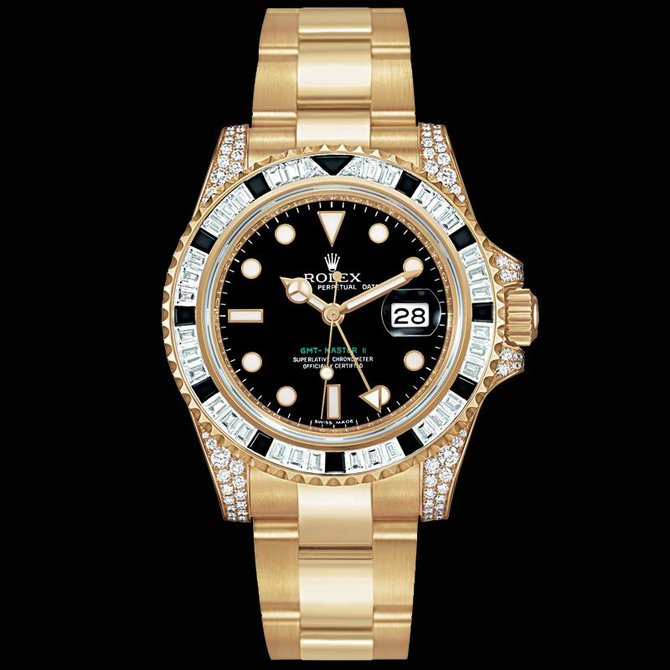 Rolex 116758SANR GMT-Master II 40mm Yellow Gold - фото 5