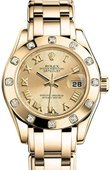 Rolex Datejust Ladies 80318 chr Pearlmaster 29mm Yellow Gold