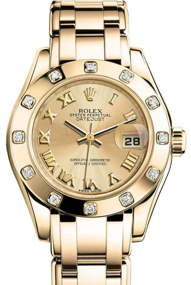 Rolex 80318 chr Datejust Ladies Pearlmaster 29mm Yellow Gold - фото 1