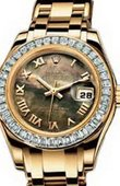 Rolex Datejust Ladies 80308 bril black mop Pearlmaster 29mm Yellow Gold