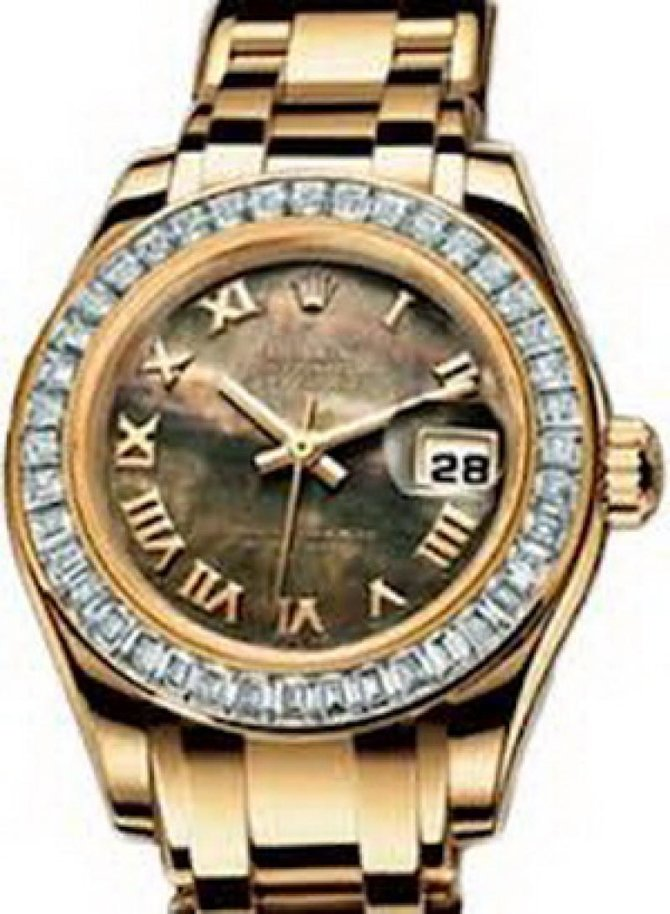 Rolex 80308 bril black mop Datejust Ladies Pearlmaster 29mm Yellow Gold - фото 1
