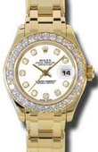 Rolex Datejust Ladies 80298 wd Pearlmaster Yellow Gold