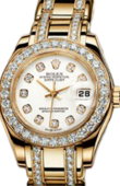 Rolex Datejust Ladies 80298 white mop d Pearlmaster Yellow Gold