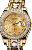 Rolex Datejust Ladies 80298 champagne d Pearlmaster Yellow Gold